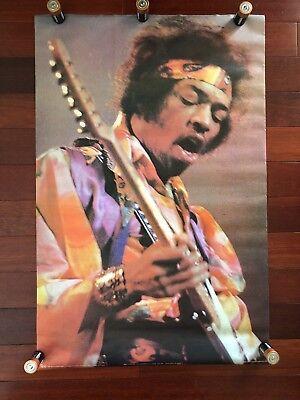 Vintage 1970 Jimi Hendrix David Redfern Poster Vtg Concert Guitar Stage 70s Pace