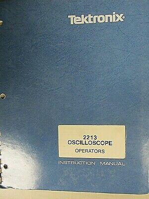 Tektronix 2213 Oscilloscope Operators 070-3397-00 Instruction Manual