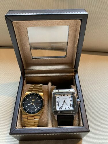 Cartier Anniversary And Seiko OLDER Watch Set Lot Box Automatic Watches Santos - watch picture 1