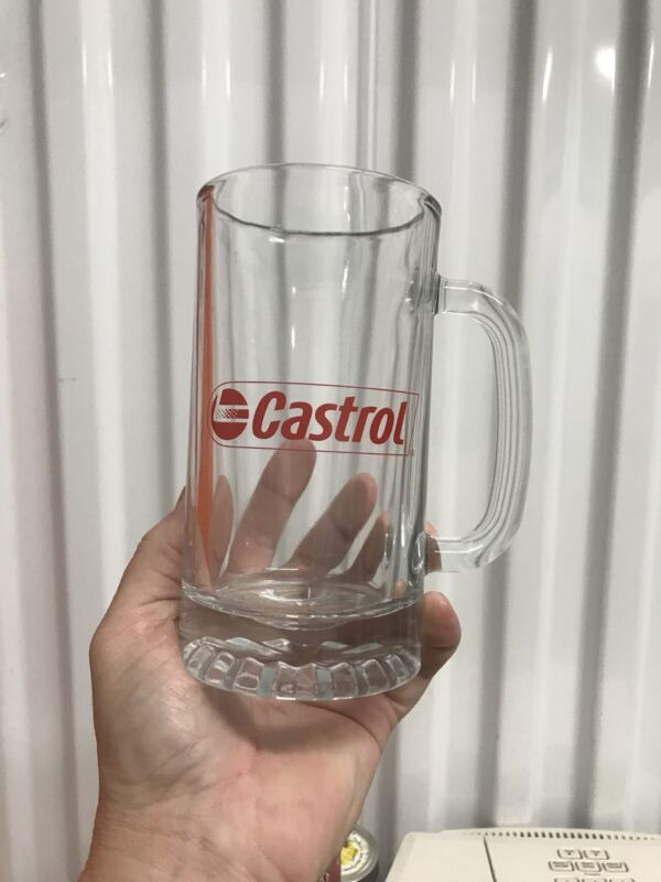 CASTROL OIL ADVERTISING GLASS BEER MUG STEIN