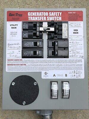 Gentran Manual Portable Generator Transfer Switch Model 3028 8 Circuit