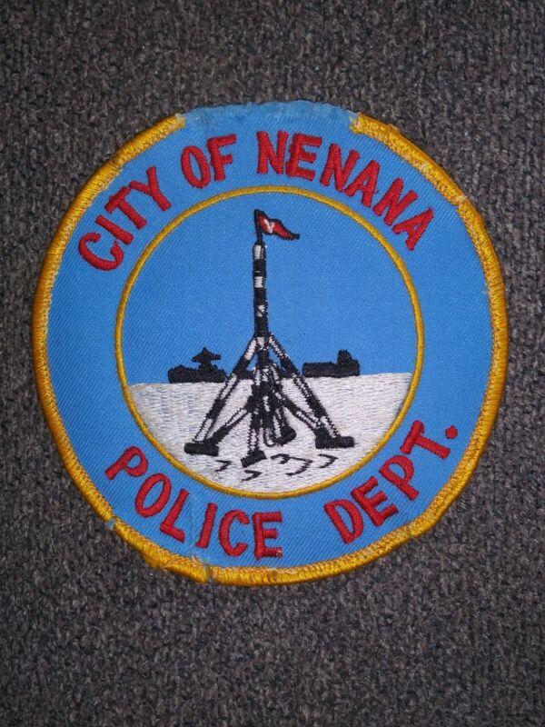 NENANA, ALASKA AK POLICE DEPARTMENT - PATCH - RARE - ICE CLASSIC TRIPOD