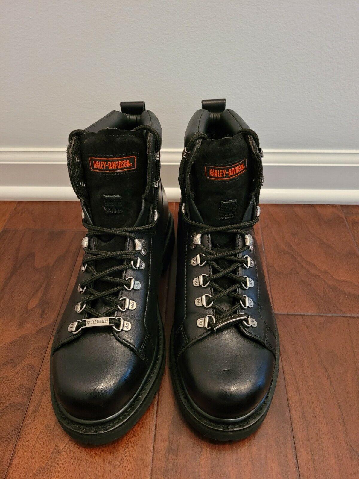 Harley-Davidson Dipstick Steel Toe Motorcycle Boots, Black L