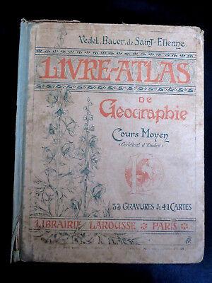 Scolaire ! livre atlas de géographie ! cours moyen ! larousse ! c22