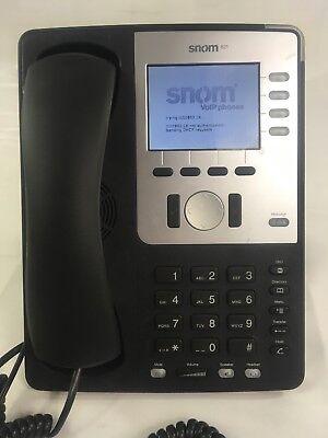 Snom 821 Sip Voip Black Phone Stand Handset Power Cord