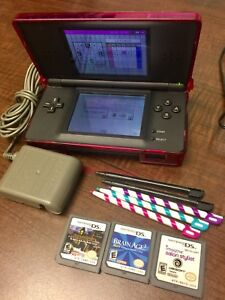 Nintendo DS Lite with Charger, Case & Games