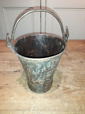 VINTAGE TIN RIVETTED SMALL BUCKET