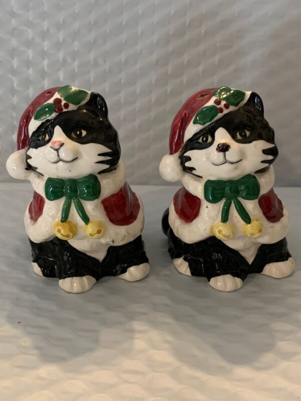 Otagiri Japan Cat Ceramic Salt & Pepper Shakers Cindy Sugawara Hand Painted