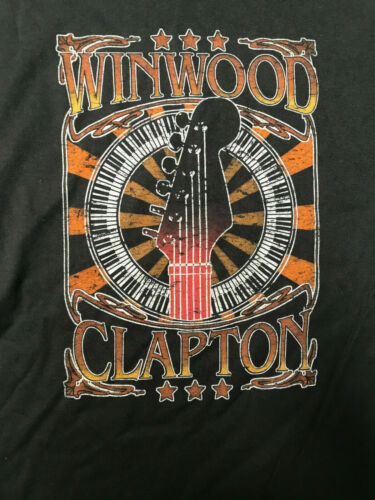 ERIC CLAPTON, STEVE WINWOOD 2008 MADISON SQ GARDEN BLACK T-SHIRT XL