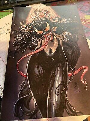 Marvel Black Cat #2 Mark Beooks Virgin Art Venom-ized