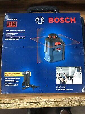 Bosch GLL 2-20 65 ft. Self Leveling 360 Degree Horizontal Cross Line Laser Level