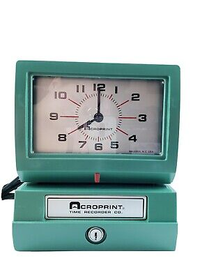 Acroprint Automatic Electirc Time Clock 150nr4 Heavy Duty No Key Model New Ink