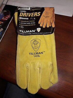 Special Move Out Sale 1 Pair Tillman 1405-med Split Cowhide Drivers Gloves