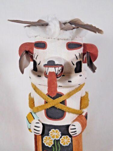 """BEAUTIFUL OLD STYLE HOPI INDIAN """"WHITE BEAR"""" KACHINA BY ANTHONY MONONGYE"""