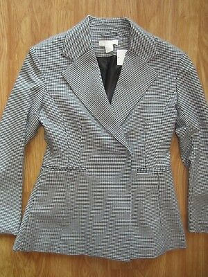 WOMENS H&M SNAP BUTTON FLARE FASHION STRETCH BLAZER JACKET COAT SIZE 8 US 38 EUR