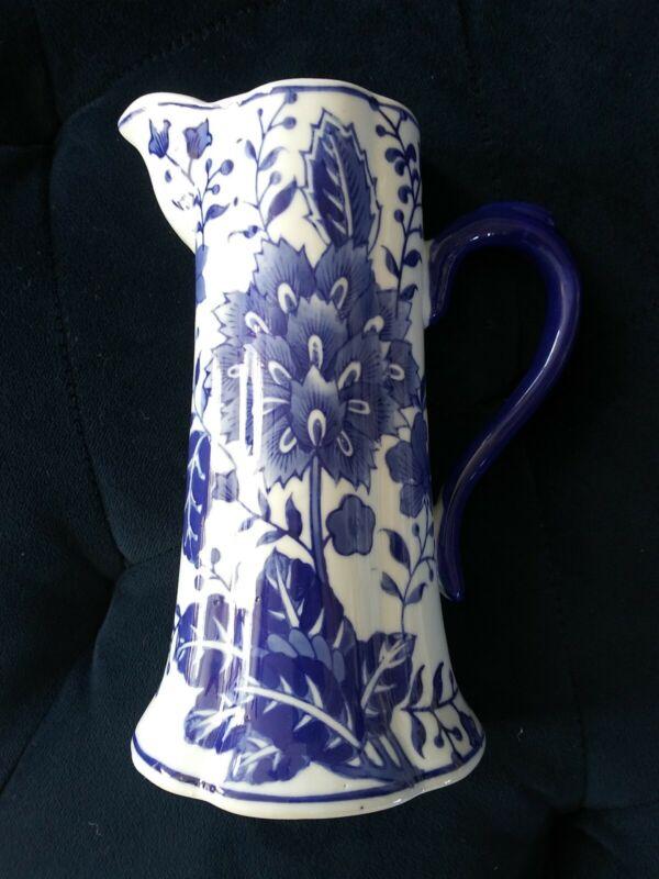 Blue & White Wall Pocket Vase Pitcher