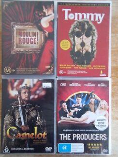4 x DVD's Musicals Blackmans Bay Kingborough Area Preview