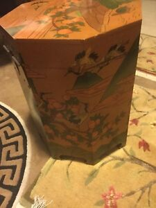 Oriental octagon storage box / side table