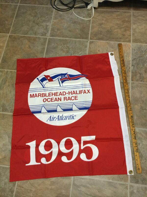 Vtg Nautical Maritime Flag Marblehead to Halifax Ocean Race 1995 Air Atlantic