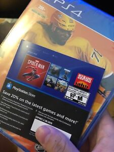NHL 19 + 20% off ps store code
