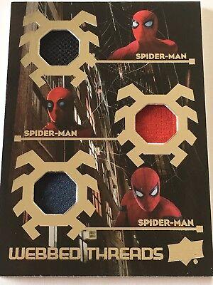 SPIDER-MAN - Homecoming - Triple Marvel Spiderman Memorabilia Costume Card WTT6