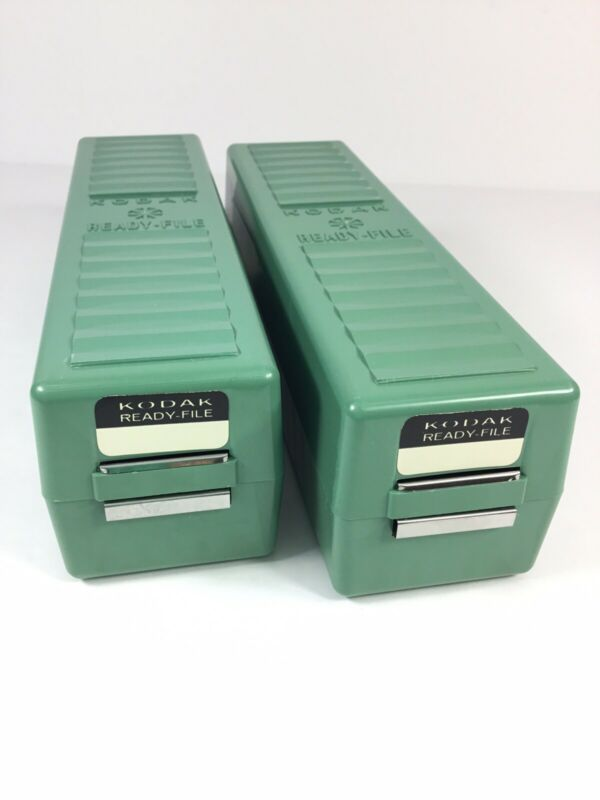 Kodak Ready File Lot of 2 Boxes w/ Dividers Full of Slides ~FAST~FREE~SHIPPING~