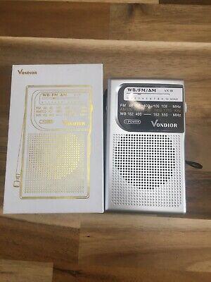 Vondior AM FM Battery Operated Portable Pocket Radio Best Reception Long