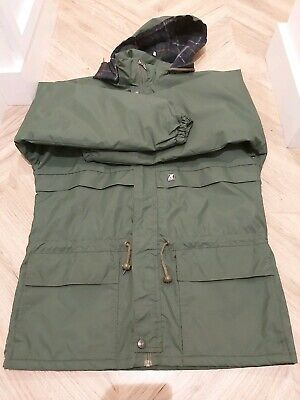 QUALITY GREEN K-WAY WATERPROOF HIKING FESTIVAL COAT/HOOD MEDIUM RRP£100 VGC
