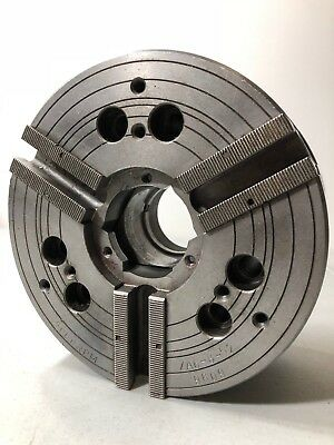 Mmk Chuck 8 8 Inch Through-hole 3 Jaw Power Operated Chuck Clean Cnc Working
