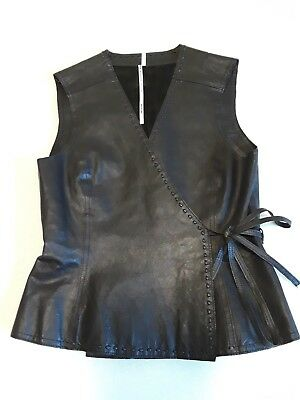 Max Studio Ladies Leather Wrap Around Vest Size (Wrap Around Vest)
