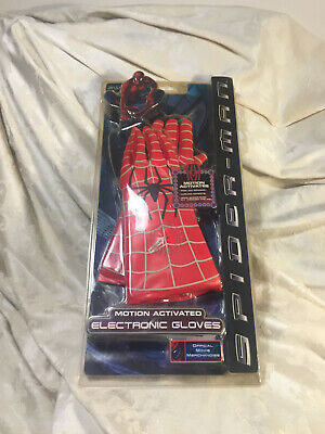 MARVEL SPIDERMAN MOVIE MOTION ACTIVATED ELECTRONIC GLOVES 2002 NEW