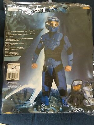 Halo Deluxe BLUE Spartan Red Vs Blue Adult Costume Standard NO - Red Vs Blue Halloween