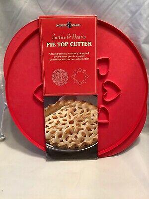 Nordic Ware Pie Top Cutter 2 Designs Lattice & Hearts New G9 Pie Top Cutter