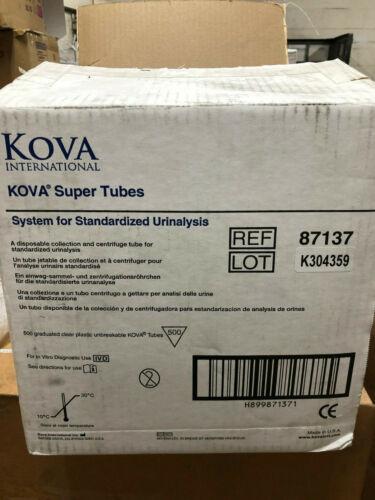 500x KOVA Super Tubes standardized Urinalysis collection centrifuge tube new