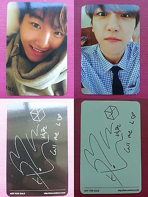 Lot of 2 EXO BAEKHYUN Official PHOTOCARD EXODUS 2nd Album Photo Card KOREA PRESS