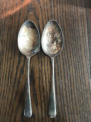 2 x Silver Serving Spoons