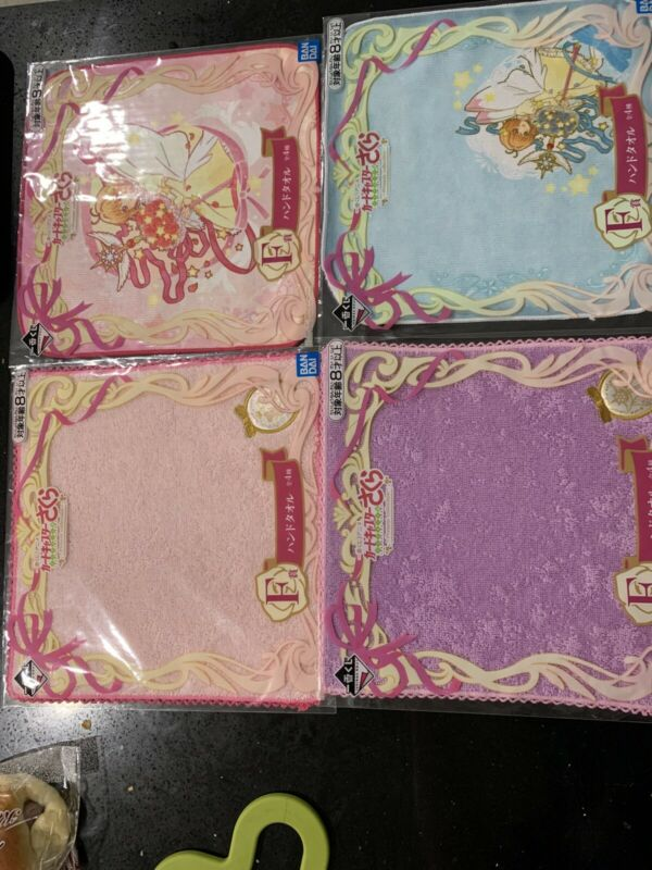 Cardcaptor Sakura clear card ichiban kuji present collection towel F Set Of 4