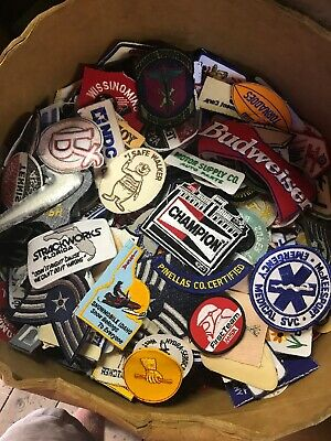 Vintage Patch Lot 25 patches nasa,automotive,Advertisement,Sports,Military Rare