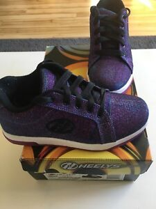 Heelys sneakers/shoes. Size 4 youth, Purple, Worn once