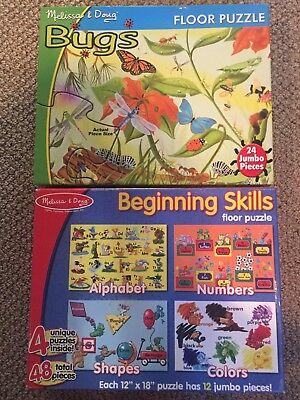 Melissa Doug Beginning Skills Bugs 2 Floor Puzzle -