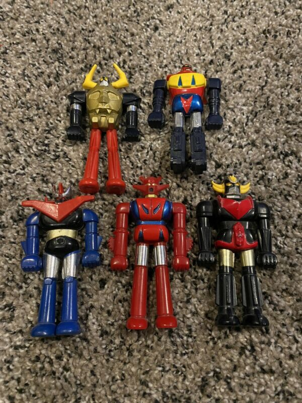 Lot Of Five (5) Vintage Bandai Mini Shogun Warrior Figures - Japan Rare Die Cast