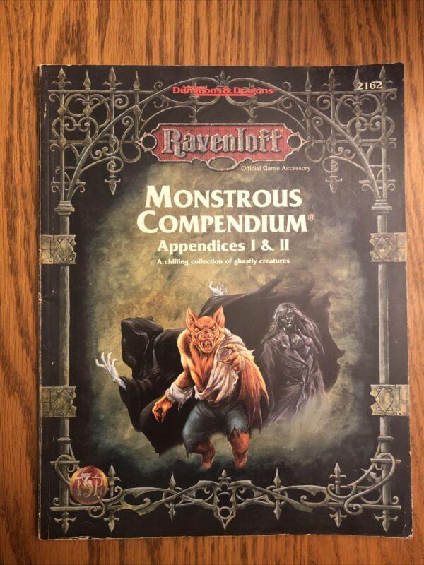 RARE & EXC! Ravenloft Monstrous Compendium Ravenloft Appendices I &II (#1 & #2)