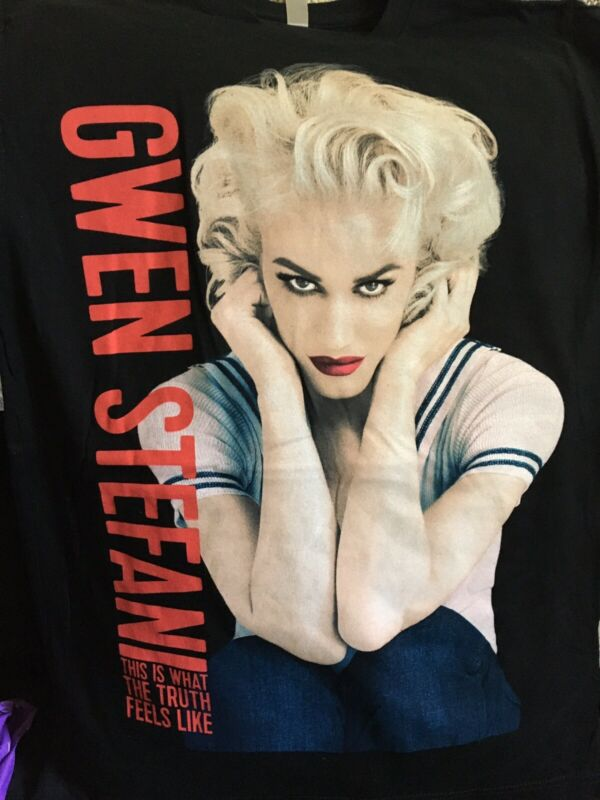 NWOT!! Gwen Stefani This Is What The Truth Feels Like Tour Shirt, Black - Sz XL