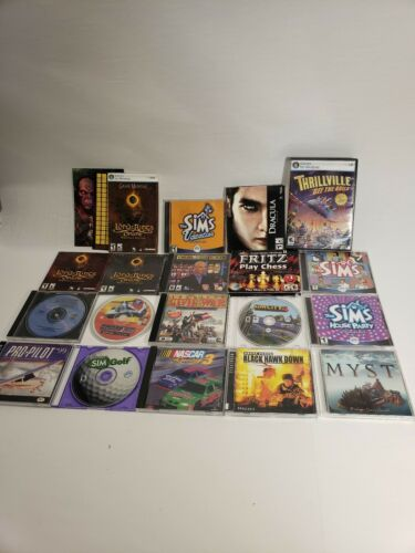 Computer Games - LOT of 18 PC Games Vintage PC CD Computer Game