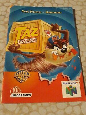 Notice du jeu Nintendo N64 FR taz express