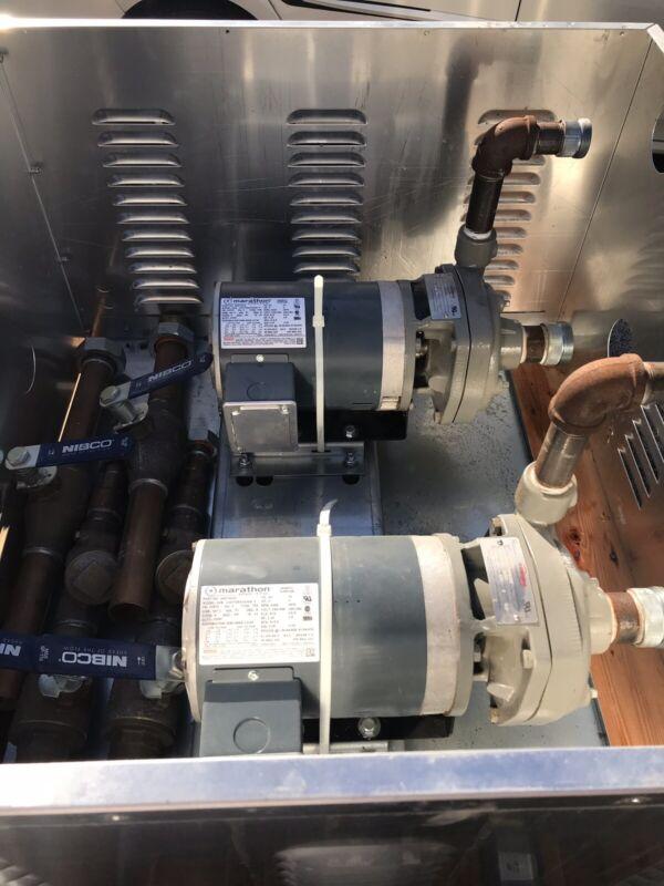 Liebert Flowserve Model P-296A Pump w/ Motor 1.5X1X5 2000 85GPM 230V 3HP 8.2FLA