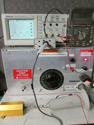 High Voltage Dc Power Supply 0 To -10000v 0.1a 1kw 10kv Hv Cable Incl. Neg Outp