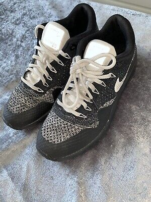 Nike Air Max 1 Fly Knit Black White Trainers Shoes Size 5