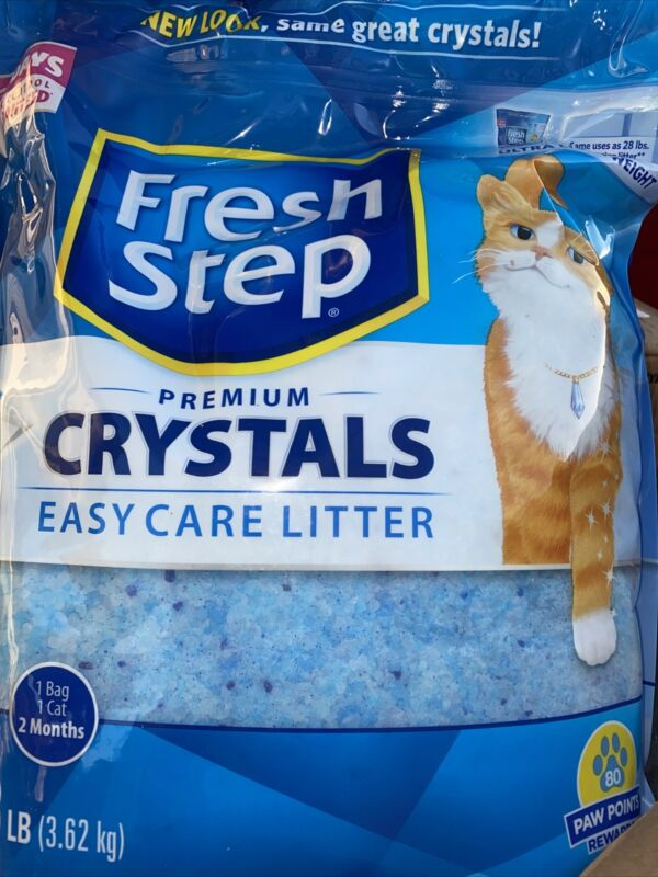 Fresh Step Crystals Premium Cat Litter Scented 8 Lbs Free Shipping