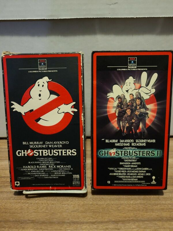 GHOSTBUSTERS 1 & 2 VHS Set TESTED 1st 1980